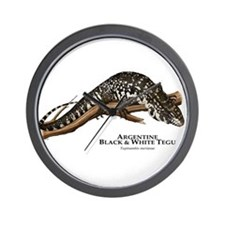 Argentine Black and White Tegu Wall Clock