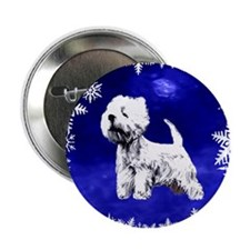 "west highland terrier, westie 2.25"" Button"