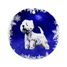 west highland terrier, westie Ornament (Round)
