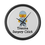Trauma Surgery Chick Large Wall Clock