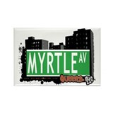 MYRTLE AVENUE, QUEENS, NYC Rectangle Magnet (100 p