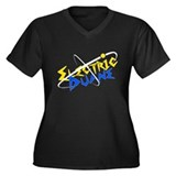 Electric Duane Women's Plus Size V-Neck Dark T-Shi