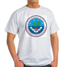 Micronesia Coat Of Arms Ash Grey T-Shirt