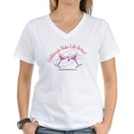 Women's V-Neck Martini T-Shirt