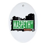 MASPETH AVENUE, QUEENS, NYC Oval Ornament