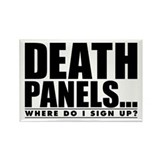 Obama Care Death Panels? Rectangle Magnet (10 pack