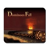 Dominoes Fall Mousepad