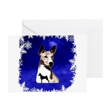 basenji holiday design Greeting Cards (Pk of 10)