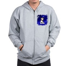 basenji holiday design Zip Hoodie