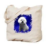 bichon frise holiday design Tote Bag