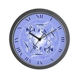 Dragons in Flight: Blue Wall Clock
