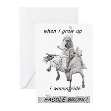 WhenI I grow up Saddlebronc Greeting Cards (Pk of