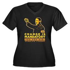 Change Is Mandatory! Women's Plus Size V-Neck Dark