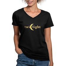 Twilight Crescent Logo Women's V-Neck Dark T-Shirt