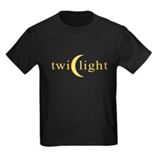Twilight Crescent Logo Kids Dark T-Shirt