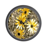 Artistic Black-Eyed Susan Wall Clock