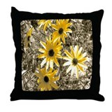 Artistic Black-Eyed Susan Throw Pillow