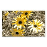 Black-Eyed Susan Rectangle Sticker 10 pk)