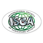 ISCA Oval Sticker
