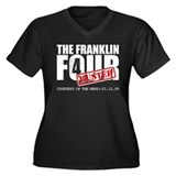 The Franklin Four Women's Plus Size V-Neck Dark T-