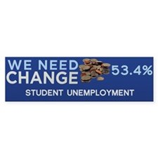 We Need Change Bumper Sticker (50 pk)