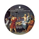 Know Thyself Socrates Quote Ornament (Round)