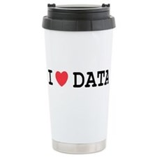 I Heart Data Travel Mug