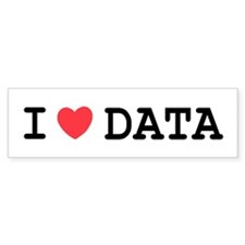 I Heart Data Bumper Sticker (50 pk)