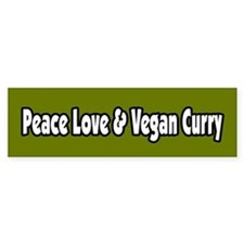 Peace Love And Vegan Curry Bumper Bumper Sticker