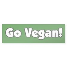 Go Vegan Bumper Bumper Sticker
