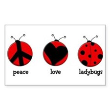 Peace, love, ladybugs Decal
