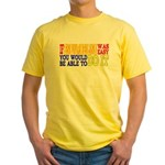 Easy Snowmobiling Yellow T-Shirt