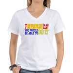 Easy Snowmobiling Women's V-Neck T-Shirt