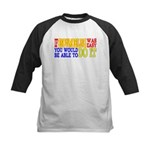 Easy Snowmobiling Kids Baseball Jersey