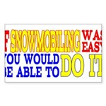 Easy Snowmobiling Rectangle Sticker