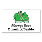 Mommy's Future Running Buddy Rectangle Sticker