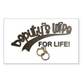 Deputy's Wife for Life Rectangle Decal