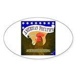 American Poultry Oval Sticker