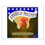American Poultry Small Poster