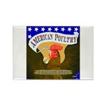 American Poultry Rectangle Magnet (10 pack)