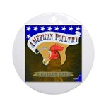American Poultry Ornament (Round)