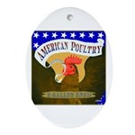 American Poultry Oval Ornament