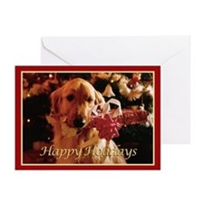 Golden Retriever Happy Holidays Cards (Pk of 10)