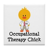 Occupational Therapy Chick Tile Coaster