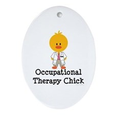 Occupational Therapy Chick Oval Ornament