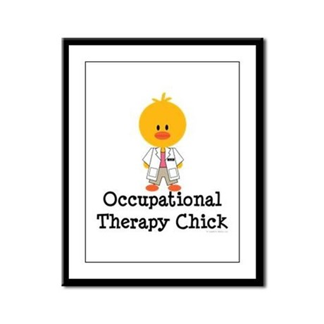 Occupational Therapy Chick Framed Panel Print