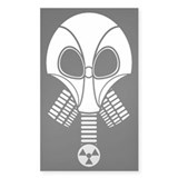 Necropolis Gas Mask Rectangle Decal