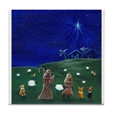 O Holy Night Tile Coaster