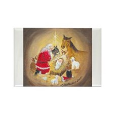 Away in a Manger Rectangle Magnet (10 pack)
