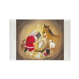 Away in a Manger Rectangle Magnet
